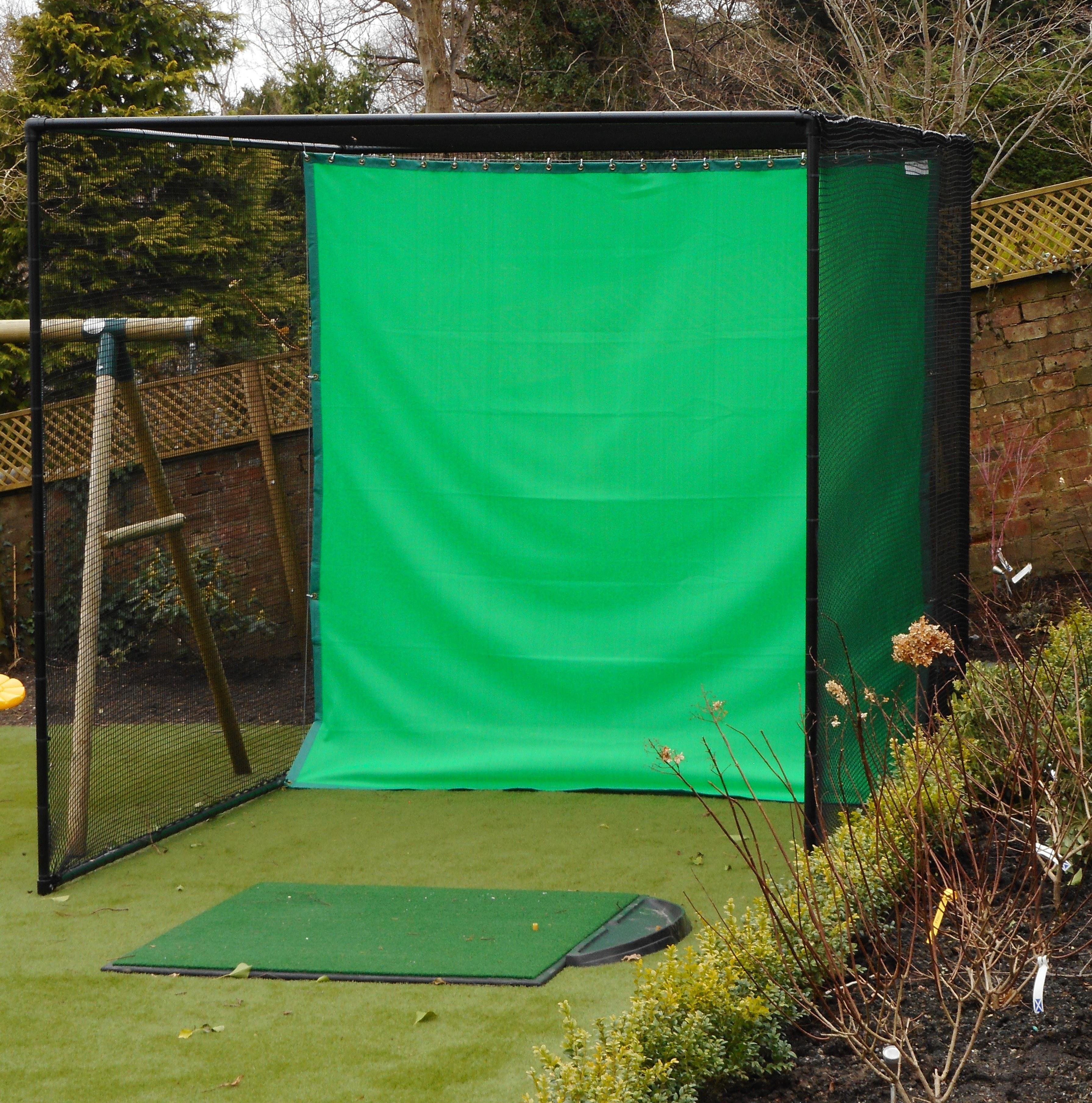 Single Bay Caged Practice Net. Black Powder Coated.