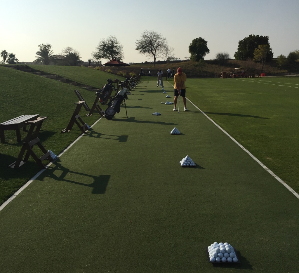 The Huxley Golf Practice Tee at Jumereirah Golf Estates, created using Huxley Premier Tee Turf